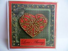 Love always - valentine with heart. Stamps and papers from The Gecko Galz