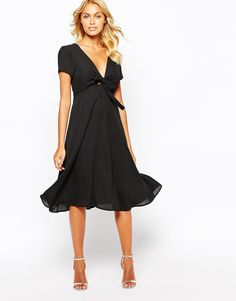 Image 4 ofLove Bow Front Midi Dress