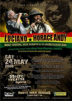Reggae Poster Press - May 24th 2008, Luciano & Horace Andy