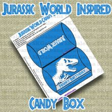 Candy Box Free Printable   Jurassic World Printables, Activities and Crafts   SKGaleana
