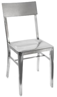 """The Stainless Steel Chair is sleek, easy to clean and resistant to bacteria growth. Compliments any color scheme, durable and designed especially for commercial use.  SKU ID:SD629-P  Dimensions:15""""D x 15""""W"""