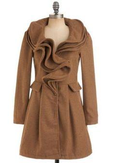 Gorgeous felt coat.