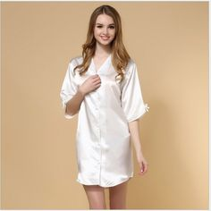 62.69$  Buy now - http://ali0om.worldwells.pw/go.php?t=32717339075 - Bathrobe Bathrobe Kids Albornoz Infantil S Female New Nightgown In Spring And Autumn The Long Sleeve Shirt Home Furnishing Suit