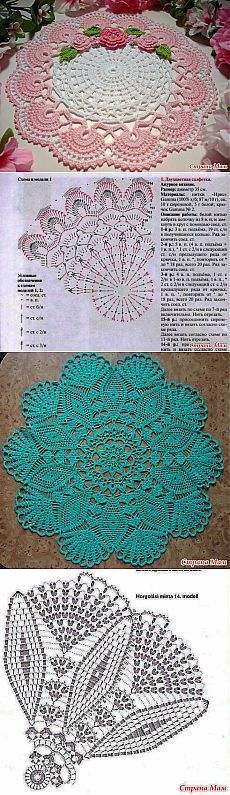 Two colour crocheted doily pattern Motif Mandala Crochet, Art Au Crochet, Crochet Doily Patterns, Crochet Diagram, Thread Crochet, Filet Crochet, Irish Crochet, Crochet Designs, Crochet Crafts