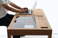 Home/Furniture Design Inspiration - The Urbanist Lab - WT is a minimalist design created by Tokyo-based designer CONSENTABLE. The leg of the table is equipped with a x gutter that allows for cables to be wired and hidden Ikea Furniture, Office Furniture, Modern Furniture, Furniture Design, Office Desk, Luxury Furniture, Modular Furniture, Furniture Logo, Street Furniture