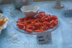 Frozen Birthday Party- Olaf's Noses | Home is Where the Mouse is