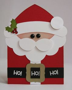 A Santa Claus Shaped Christmas Holiday Card by Mendi Yoshikawa @2peasinabucket