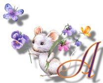 Oh my Alfabetos!: Alfabeto de ratitas con flores.
