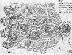 Crochet Tablecloth Pattern, Crochet Mandala Pattern, Crochet Doilies, Crochet Patterns, Crochet Hats, Filet Crochet Charts, Crochet Diagram, Thread Crochet, Crochet Stitches