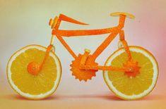 DDC-Food Design 0002 Orange Bike Food Sculpture - Dan Cretu