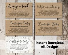 Weathered wood grain plank background template pinterest printable baby shower book request bring a book instead of a card rustic wood instant download avery business card template 8871 flashek Choice Image