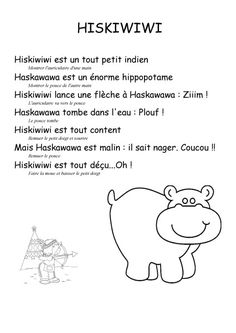 Notre comptine : Hiskiwiwi et Haskawawa - PS MS Joliot Curie Pontarlier French Poems, School Organisation, Petite Section, My Job, Nursery Rhymes, Continents, Short Stories, Back To School, Activities For Kids