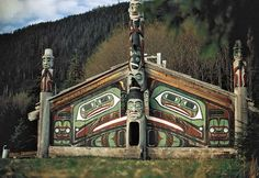 Photograph:The Totem Heritage Center in Ketchikan has totem poles and other artifacts of Tlingit and Haida cultures. The collection of original, unaltered totems is the largest in Alaska.