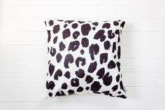 Big Del - Monochrome Black and White Modern Animal Print Floor Pillow on DLK.jpg