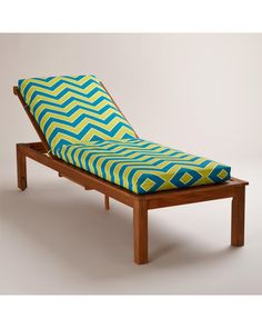 Bask in the sun with this cool chevron lounger! Get it here: http://www.bhg.com/shop/world-market-cool-chevron-pool-lounger-cushion-p51305c09e4b01dbe4a04baf0.html