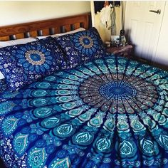 Bedspreads – Queen New Mandala Bed Duvet Cover Sheet Bedding – a unique product by IndianCraftPalace on DaWanda
