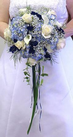 Image Detail for - ... (Bouquets) - Wedding Bouquets Ideas: Blue Hydrangea Cascade Bouquet