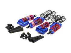 Integy XLS Piggyback Shock (4), Blue: Slash 4X4 by Integy. $56.13. These are optional Team Integy Billet Machined XLS Piggyback Shocks for the Traxxas 1/10 Slash 4X4.FEATURES: Aluminum construction Anodized blue in Color Fully assembled Piggyback oil ReservoirINCLUDES: Four Assembled Shocks w/Piggyback Reservoirs Four Foam Dampers Mounting hardwareREQUIRES: Installation into vehicle and shock oilCOMMENTS: Also available in Green (INTC3942) Red (INTC3943) Silver (INTC3944)Integ...
