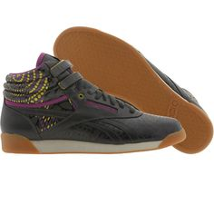 00b4ca1db60 Reebok x Alicia Keys Womens Freestyle AK High (parchment   gravel   green    aubergine