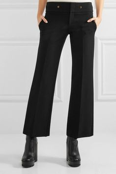 Gucci - Cropped Stretch-jersey Flared Pants - Black - IT