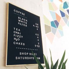 Clement Coffee #menuboard #cafe #walldecor #pattern