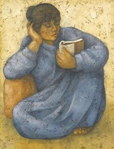 LouaiF Kayyali - Woman reading