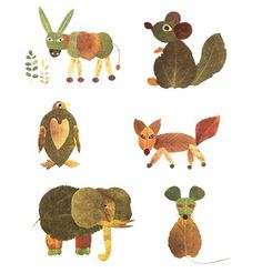 Leaf Animals #fall #crafts