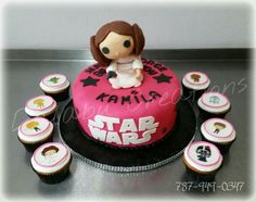 Princess Leia Star Wars Cake with Cupcakes