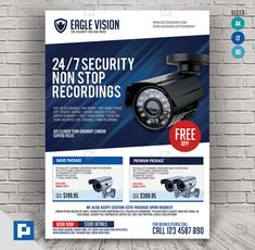 Easy to edit and fully layered PSD template! This CCTV Package Promotional Flyer Design has been develop to boost your marketing campaign. Flyer Design Templates, Psd Templates, Flyer Template, Promo Flyer, Cctv Surveillance, Camera Shop, Promotional Flyers, Marketing Opportunities, Logo Design