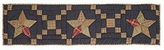 Arlington Patchwork Star Quilted Runner 13x48""