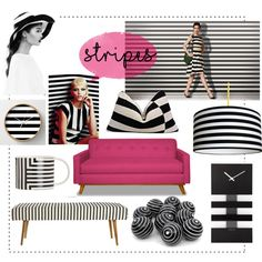 Stripes by julie-rawding on Polyvore featuring interior, interiors, interior design, home, home decor, interior decorating, NeXtime and…