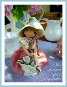 *SORRY, no information as to product used Polymer Clay Dolls, Polymer Clay Projects, Polymer Clay Creations, Fondant Figures Tutorial, Play Clay, Clay Figurine, Cute Clay, Sculpture Clay, Ceramic Clay