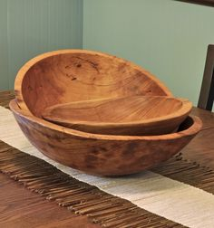 Thick olive wood bowls are a naturally beautiful vessel to showcase your food. These food-safe bowls are carved from olive wood with special care being taken to retain interesting areas of the wood's grain and natural curvature. From Kenya. #olivewood #fairtrade #woodbowls  http://www.swahilimodern.com/products/thick-olive-wood-serving-bowls