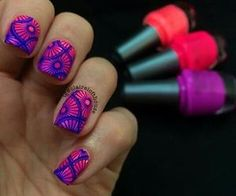 #brightmani #floraldesign #nailart
