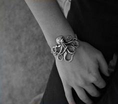 Olivia Paige  Rockabilly octopus bracelet by OliviaPaigeClothing, $15.00