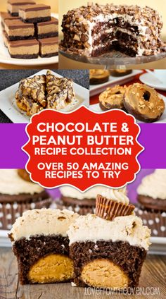Chocolate And Peanut Butter Recipe Collection Over 50 Amazing Recipes