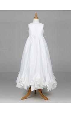 Beautiful Sleeveless Satin Wedding/Evening Flower Girl Dress