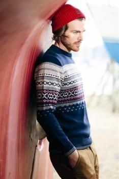 Rustic crew-neck: A/W men's knitwear commercial update Sharp Dressed Man, Well Dressed Men, Urban Fashion, Mens Fashion, Fashion Menswear, Fashion Wear, Scandinavian Fashion, Men Looks, Stylish Men