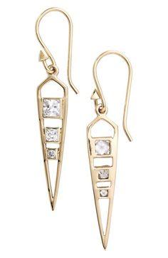 'Parker' Gold Drop Earrings
