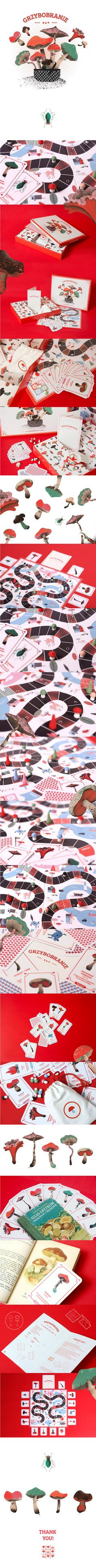Illustration / Product design / GRZYBOBRANIE - Mushrooming Board Game on Behance