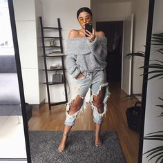 WEBSTA @ shannenjai - This knit is absolute perfection, so I had to have it in grey too. Oh and the shades @windsorstore killin' it #sjptakesaustria