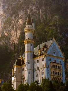 """medieval-woman: """" New Castles of Bavarian King by Lou Lu """" Germany Castles, Neuschwanstein Castle, Beautiful Castles, Medieval Castle, Vacation Places, Places To Visit, Around The Worlds, Mansions, Cathedrals"""