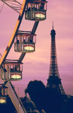 Only in Paris can you get this ....Ferris wheel with a spectacular view