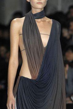Beautiful Gather, Drape & Tonality - elegant dress; fashion details // Haider Ackermann