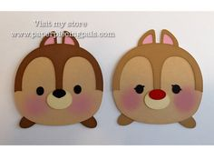 Premade Chip and Dale tsum tsum paper piecing by PaperPiecingPals
