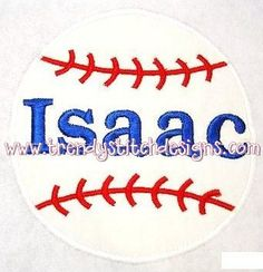 Baseball 1 Applique Embroidery Design by trendystitchdesigns, $2.50