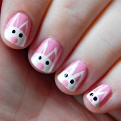 Too cute Bunny Nail Art!