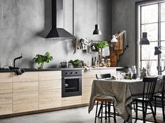 A cool scandi Ikea kitchen