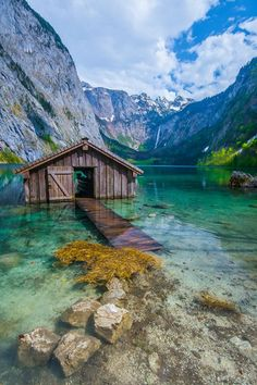 Pics on Lonely boat house on an alpine lake in Photo by Mark Whale.Lonely boat house on an alpine lake in Photo by Mark Whale. Places Around The World, The Places Youll Go, Places To See, Around The Worlds, Beautiful World, Beautiful Places, Beautiful Pictures, Phuket, Dream Vacations