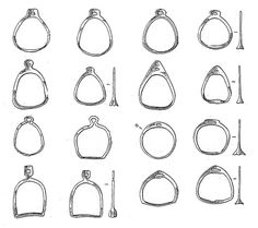 9-13th century, stirups from various sites in Russia. Kolchin 1985.